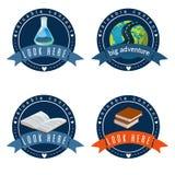 Education logo set vector  illustration. Stock Photo