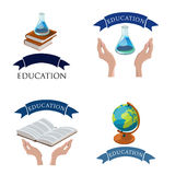 Education logo set vector  illustration. Stock Photography