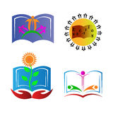 Education logos. Education designs used for logo purpose Stock Photo