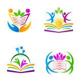 Education logos Royalty Free Stock Image