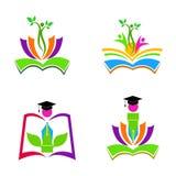 Education logos royalty free illustration