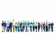 Education - Many people standing confidently Royalty Free Stock Photo