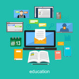 Education materials concept illustration. Electronic tools for education. Royalty Free Stock Photos