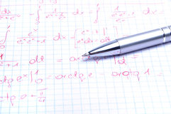 Education. Mathematics calculations Royalty Free Stock Image