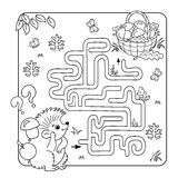 Education Maze or Labyrinth Game for Preschool Children. Puzzle.. Cartoon Vector Illustration of Education Maze or Labyrinth Game for Preschool Children. Puzzle Royalty Free Stock Photo