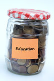Education money. Saving up in order to get a decent education Royalty Free Stock Photos