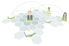 Education network / School and College communication Stock Photography