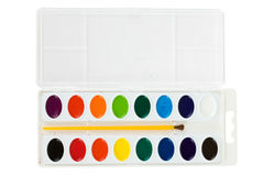 Education: New Watercolor Paint Set Royalty Free Stock Images