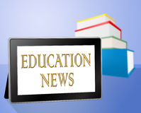 Education News Means Social Media And Book Stock Photo