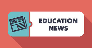 Education News on Scarlet in Flat Design. Royalty Free Stock Photos