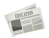 Education newsletter illustration design. Over a white background Royalty Free Stock Photography