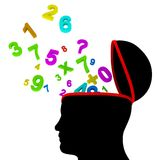 Education Numbers Represents Study Learn And Digits Royalty Free Stock Images