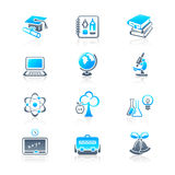 Education objects icons | MARINE series stock illustration