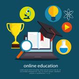 Education On Line With Laptop Royalty Free Stock Photography