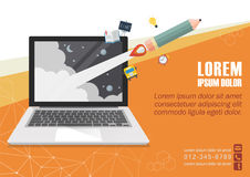 Education online concept poster Stock Photography