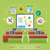 Education, online education, professional. Set icons for education, online education, professional education in flat design style Royalty Free Stock Images