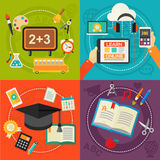 Education and Online Learning Concept Banners Royalty Free Stock Photography