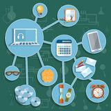 Education online training collection school college university Stock Images