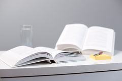 Education - open books on a desk Royalty Free Stock Photo