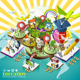 Education over world concept Royalty Free Stock Photos