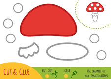 Education paper game for children, Amanita Royalty Free Stock Images