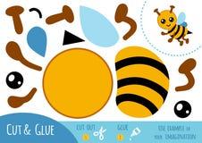Education paper game for children, Bee stock illustration