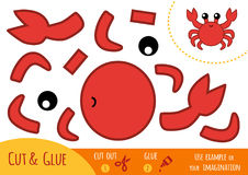 Education paper game for children, Crab Royalty Free Stock Image