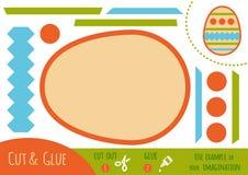 Education paper game for children, Easter egg royalty free illustration