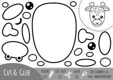 Education paper game for children, Giraffe Stock Images