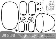 Education paper game for children, Hippo royalty free illustration
