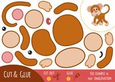 Education paper game for children, Monkey royalty free illustration