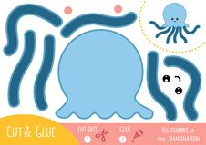 Education paper game for children, Octopus stock illustration