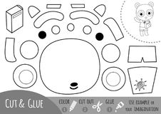 Education paper game for children, Panda and a book royalty free illustration