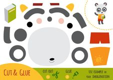Education paper game for children, Panda royalty free illustration