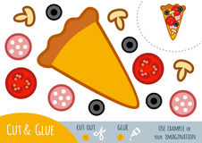 Education paper game for children, Pizza Stock Photo