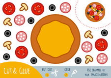 Education paper game for children, Pizza Stock Photography