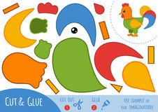 Education paper game for children, Rooster royalty free illustration