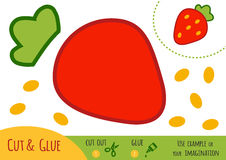 Education paper game for children, Strawberry Stock Photo