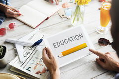 Education Pencil Graphic Learn Study Online Concept Royalty Free Stock Image