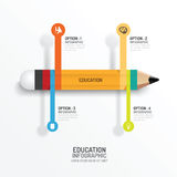 Education pencil Infographics Creative Template. Vector. Stock Photos