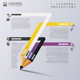 Education pencil. Infographics design template. Vector. Illustration Stock Images