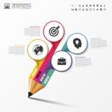 Education pencil. Infographics design template. Vector. Illustration Stock Photo