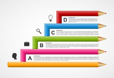 Education pencil option Infographics design template. Stock Photography