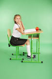 Education, people, children and school concept - young school girl Stock Photography