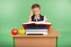 Education, people, children and school concept - young school girl Stock Image
