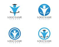 Education people logo design vector template.  Stock Photos