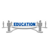 Education. People stand around teh text Education Royalty Free Stock Photo