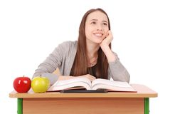 Education, people, teenager and school concept - teenager school girl Stock Photo
