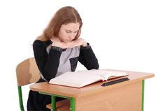 Education, people, teenager and school concept - teenager school girl Royalty Free Stock Images
