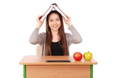 Education, people, teenager and school concept -  teenager school girl Royalty Free Stock Photos